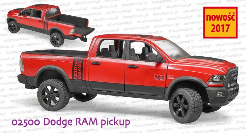 Bruder Nowość 2017 02500 Dodge RAM Pickup