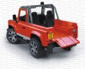 Bruder 02591 Land Rover Defender Pick Up - czerwony