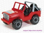02540 BRUDER Jeep Cross country czerwony