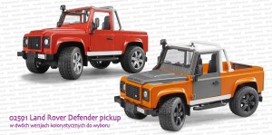 02591 BRUDER Land Rover Defender Pick Up
