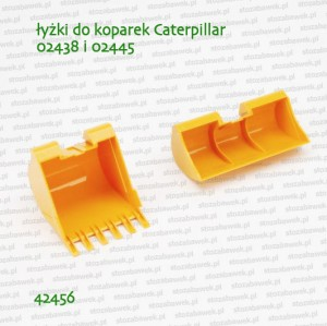42456 BRUDER Łyżki do koparek Caterpillar 02438 i 02445