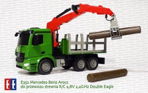 E352 Mercedes-Benz Arocs z HDS do przewozu drewna R/C 4,8V 2,4GHz Double Eagle