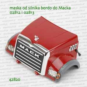 42820 BRUDER Maska od silnika bordo do Macka 02812 i 02813