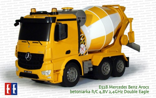 E528 Mercedes Benz Arocs betoniarka R/C 4,8V 2,4GHz Double Eagle