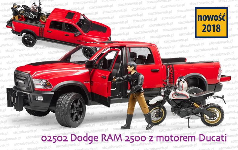 Bruder Nowość 2018 - Dodge RAM