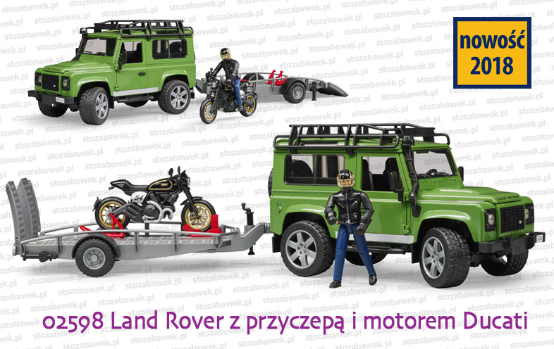 Bruder Nowość 2018 - Land Rover i Ducati