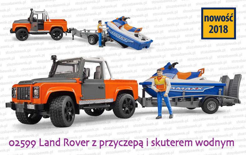 Bruder Nowość 2018 - Land Rover i skuter