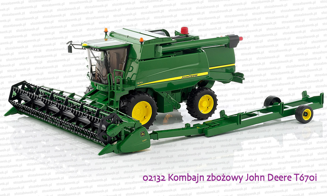 b0b6719a04d 02132 BRUDER Kombajn zbożowy John Deere T670i - zabawki Bruder ...
